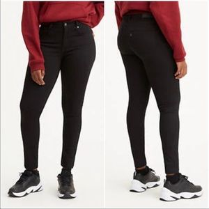 Levi's 721 High Rise Skinny Jeans Black 28